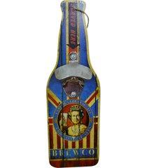abridor de garrafa de madeira brewco kasa ideia - multicolorido - dafiti