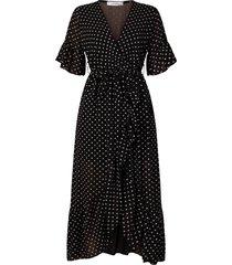ambika jurk zwart stip