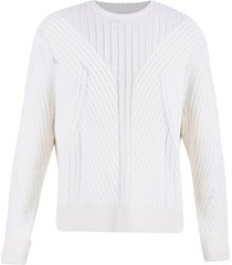 neil barrett cable knit sweater