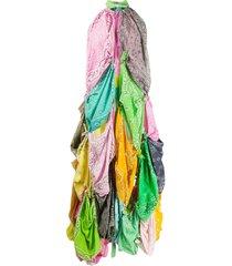 natasha zinko bandana knotted dress - pink