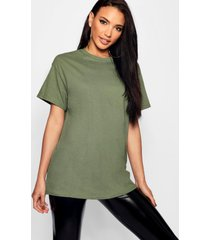 basic oversized boyfriend t-shirt, kaki