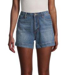 articles of society women's ziggy high-rise denim shorts - blue - size 25 (2)