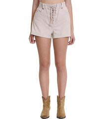 iro douma shorts in powder suede