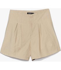 womens save a pleat for me high-waisted shorts - sage