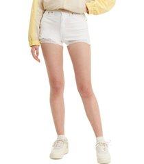 levi's high-rise distressed denim shorts