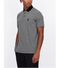 ax armani exchange men's striped polo shirt