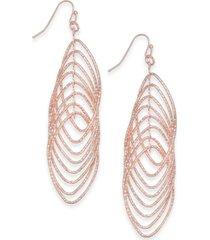 inc navette multi-ring drop earrings, created for macy's