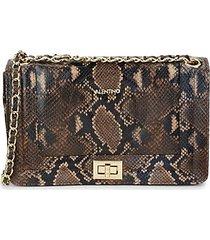 alice python-embossed leather shoulder bag
