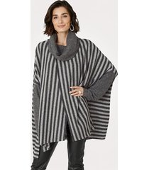 poncho mona grå::antracitgrå