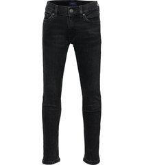 gant slim jeans jeans zwart gant