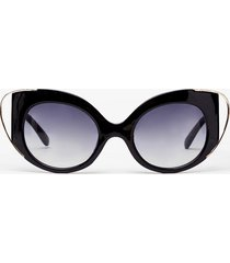 womens eyes on the prize cat-eye sunglasses - black