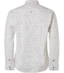shirt, l/sl, allover printed, stret white