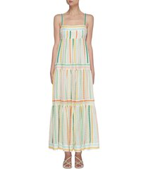 amelie' embroidered tiered sundress