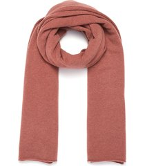 rolled edge cashmere blend scarf