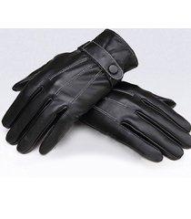 bottone ricoperto in pelle da ciclismo uomo antivento nero antivento guanti