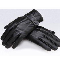 guanti di gomma coperti dell'azionamento di riciclaggio degli uomini di cuoio dell'unità di elaborazione antivento nero