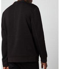 hugo men's dokoda kangaroo pouch sweatshirt - black - m