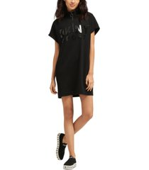 dkny sport quarter-zip logo dress