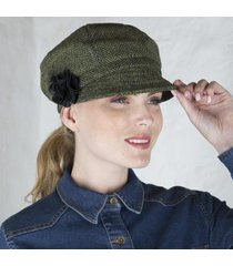 ladies irish wool newsboy cap green