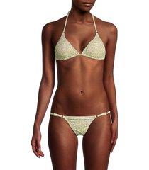 melissa odabash women's brazil 2-piece print triangle bikini set - jungle - size 44 (8)