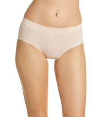 women's nordstrom bare hipster panties, size small - pink