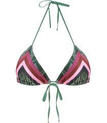 track & field geometric triangle bikini top - multicolour