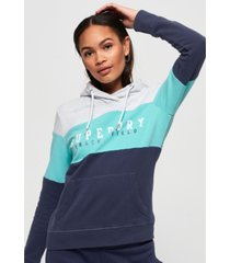 superdry track and field lite colour block hoodie