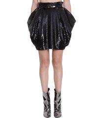 alexandre vauthier skirt in black polyester