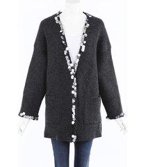 christopher kane sequin wool knit cardigan