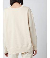 ps paul smith women's ps face sweatshirt - cream - m