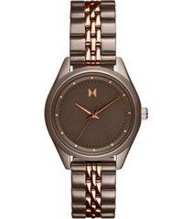 mvmt women's rise mini two-tone stainless steel bracelet watch 30mm