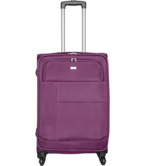 maleta de viaje mediana en lona con cuatro ruedas giratorias 94870