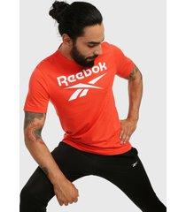 camiseta naranja-blanco reebok graphic