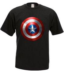 captain america shield film men's t-shirt tee many colors