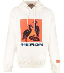 heron preston cotton hoodie