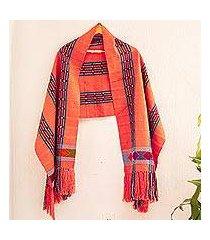 cotton shawl, 'treasured tradition' (mexico)