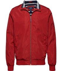 coastal bomber jacket tunn jacka röd izod