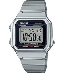 b-650wd-1a reloj digital moderno plateado
