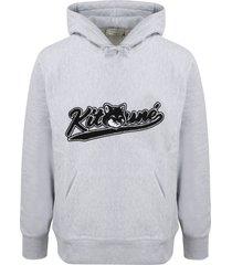 maison kitsuné varsity fox hoodie