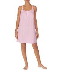 lauren ralph lauren double strap nightgown, size x-small in pink at nordstrom