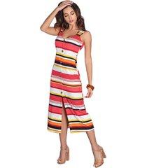 vestido rayas multicolor seven7 g-100