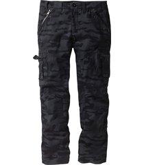 pantalone cargo baggy fit straight (nero) - rainbow