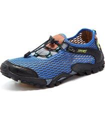 uomo scarpe outdoor trekking respirabile in tessuto lycra e mesh con urto-assorbimento