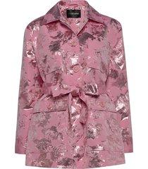 hector, 856 metallic jacquard blazer kavaj rosa stine goya