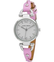 laura ashley purple ladies' dial analog display twisted band round watch