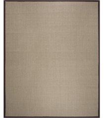 safavieh natural fiber sage and brown 8' x 10' sisal weave rug