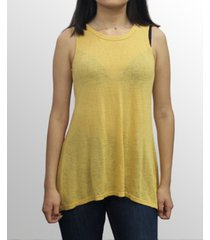 coin 1804 womens slub jersey split button back tank top