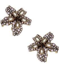 lily crystal drop earrings