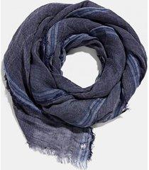 pañuelo mujer de tela con lino azul marino esprit