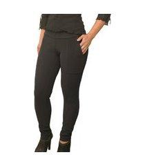 calça legging montaria em gorgurão felpada peluciada por dentro alta elasticidade super confortável preto